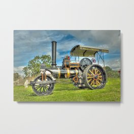 Fowler T3 Road Roller Metal Print