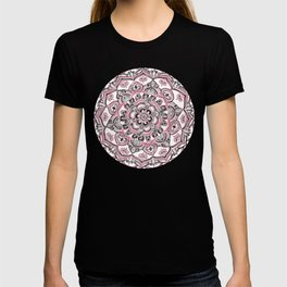 Magical Mandala in Monochrome + Pink T-shirt