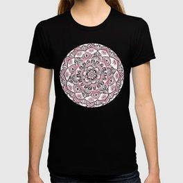 Magical Mandala in Monochrome + Pink T-shirt