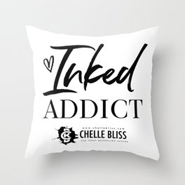 Inked Addict Throw Pillow