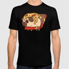 Puglie Pizza Mens Fitted Tee LARGE Black