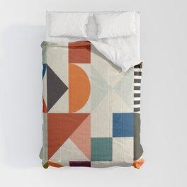 mid century retro shapes geometric Comforters