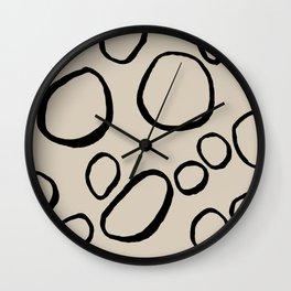 Daisy Circles Wall Clock