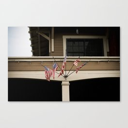 neighborhood III (americana)  Canvas Print