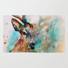 Abstract Deer Watercolor Rug