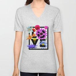 Love Flower Power Unisex V-Neck