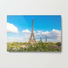 Cloud 9 - Eiffel Tower Metal Print