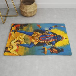 Kali By Raja Ravi Painting Rug