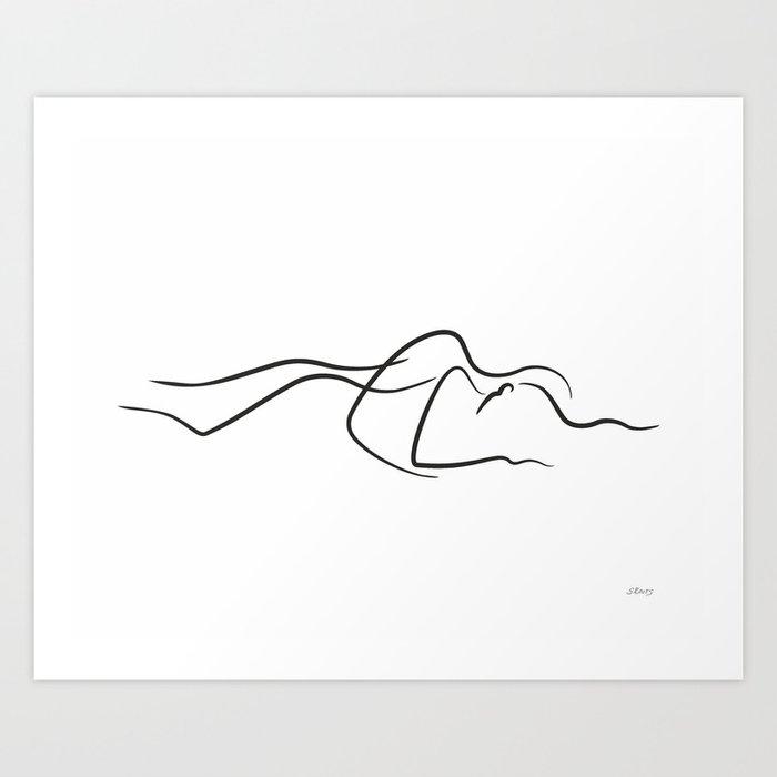 Sensual couple sketch. Kunstdrucke