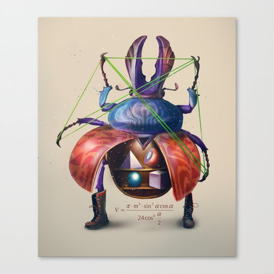 Beetle stunt Canvas Print