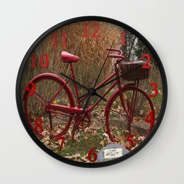 Monument to the Bicycle Wall Clock