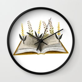 floral reading ii Wall Clock