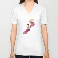 wedding V-neck T-shirts featuring Wedding Crasher  by KUBISM