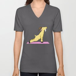 Funny Goat Yoga Gift  graphic Unisex V-Neck