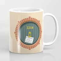 221b Mugs featuring 221B Bag End by sirwatson