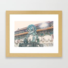 Lion China Beijing Palace artwork Framed Art Print