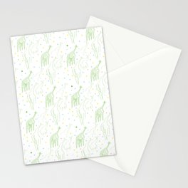 Perspective Giraffes Stationery Cards