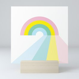 Life is a journey, Enjoy the Pride! #rainbow #Pride #lifestyle Mini Art Print