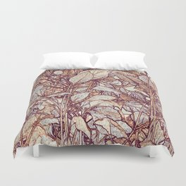 abstract camouflage leaves Duvet Cover