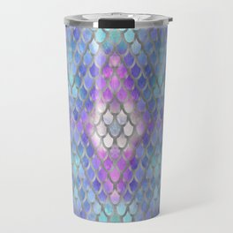 Pastel Diamond Mermaid Scales Travel Mug