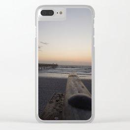 Beach Sunrise Clear iPhone Case