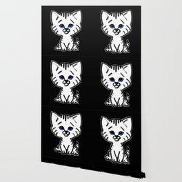 Chalkies cat black Wallpaper