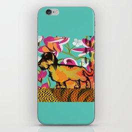 Dachshund  pop art iPhone Skin