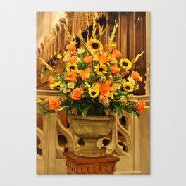 Church Floral Canvas Print