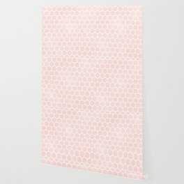Pink Coral Honeycomb Wallpaper