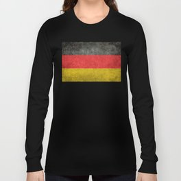 German National flag, Vintage retro patina Long Sleeve T-shirt