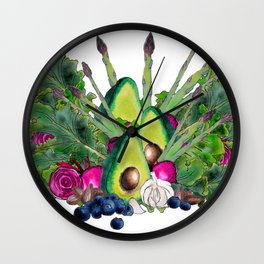 superfood medley Wall Clock