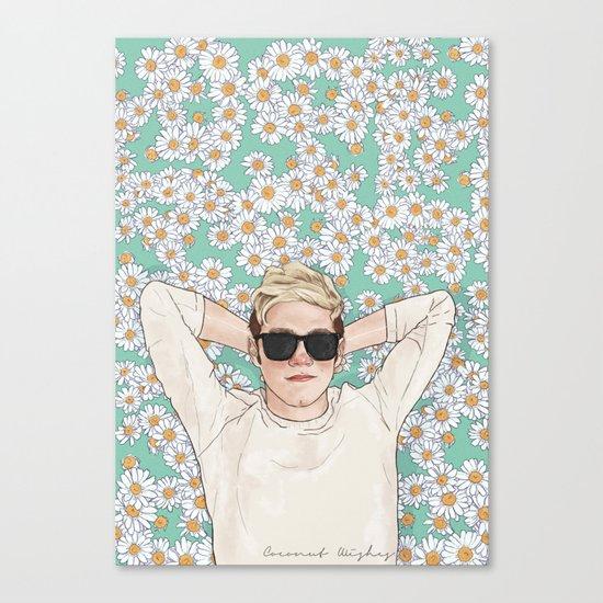 Niall daisies field Canvas Print