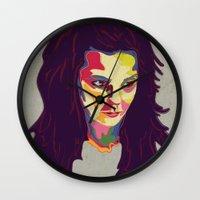 bjork Wall Clocks featuring Bjork by mr. michael temple