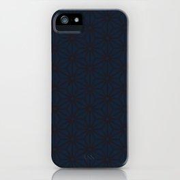 Asanoha Maroon & Navy No. 1 iPhone Case