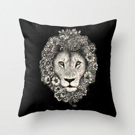 King of Blooms 2 Throw Pillow