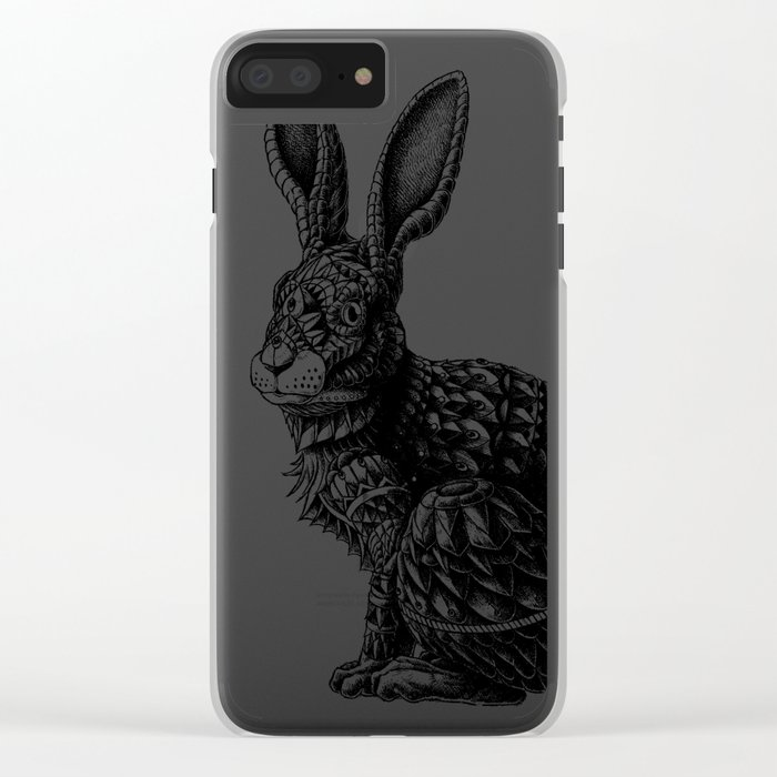 Ornate Rabbit Clear iPhone Case