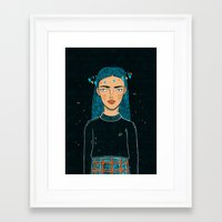 hologram Framed Art Prints featuring In A Hologram With You by a thousand daisies