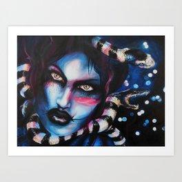 Sea Snake Gaze Art Print