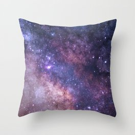 Purple Galaxy Star Travel Throw Pillow