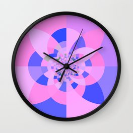 Lavender Purple Blue Kaleidoscope Wall Clock