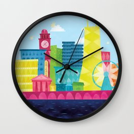 Small World — Chicago  Wall Clock