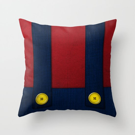 Video Game Poster: Plumber Throw Pillow