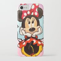 minnie iPhone & iPod Cases featuring Minnie  by Diego Navarro