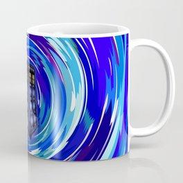 Blue Phone Box with Swirls Coffee Mug