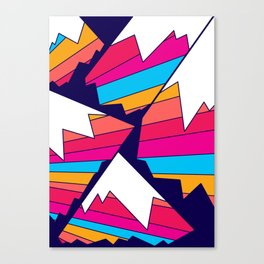 Mountains of many colours Canvas Print