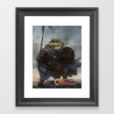 A knightly Frog  Framed Art Print