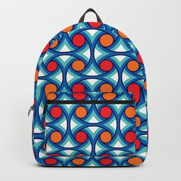 Geometric Pattern 169 (retro summer) Backpack