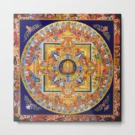 Buddhist Mandala 49 Green Tara Metal Print