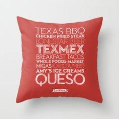 Austin — Delicious City Prints Throw Pillow