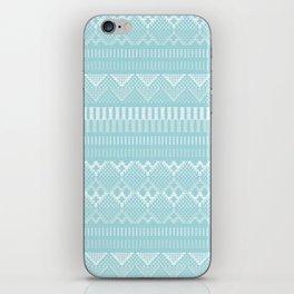 Weave (blue) iPhone Skin
